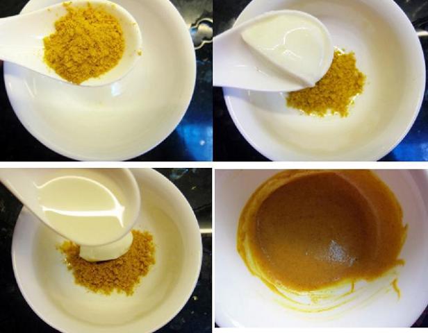 Tẩy lông mặt bằng sữa chua và bột nghệ
