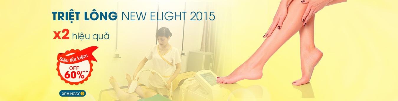Triệt lông công nghệ New Elight 2015 - Siêu tiết kiệm Off 60%