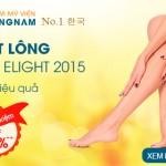 Triệt lông New Elight 2015 – X2 hiệu quả: Siêu tiết kiệm Off 60%